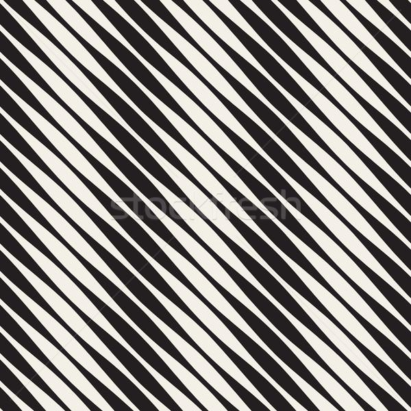 вектора бесшовный черно белые полутоновой диагональ линия Сток-фото © Samolevsky