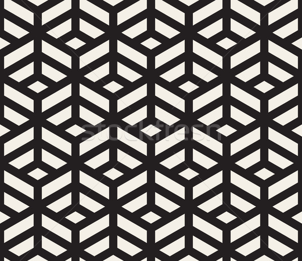 Vetor sem costura preto e branco geométrico padrão Foto stock © Samolevsky
