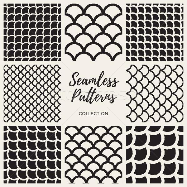 Vektor Hand gezeichnet Zeilen orientalisch Muster Stock foto © Samolevsky