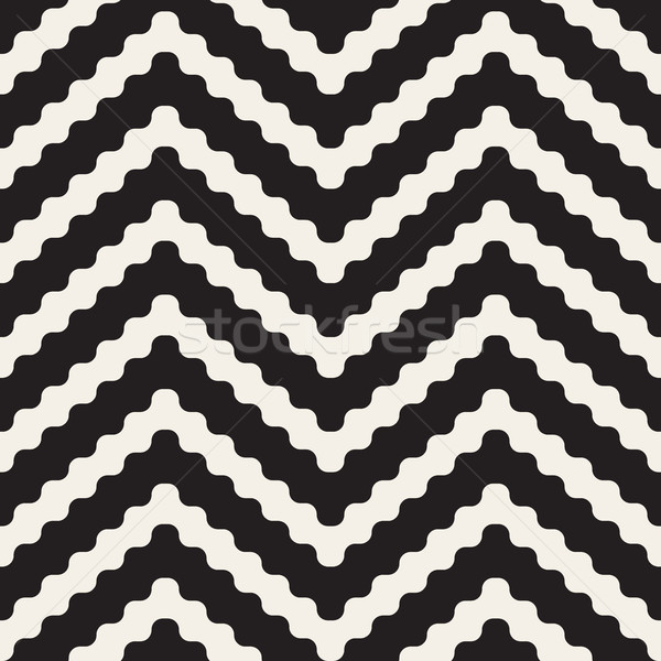 вектора бесшовный черно белые зигзаг линия геометрическим рисунком Сток-фото © Samolevsky