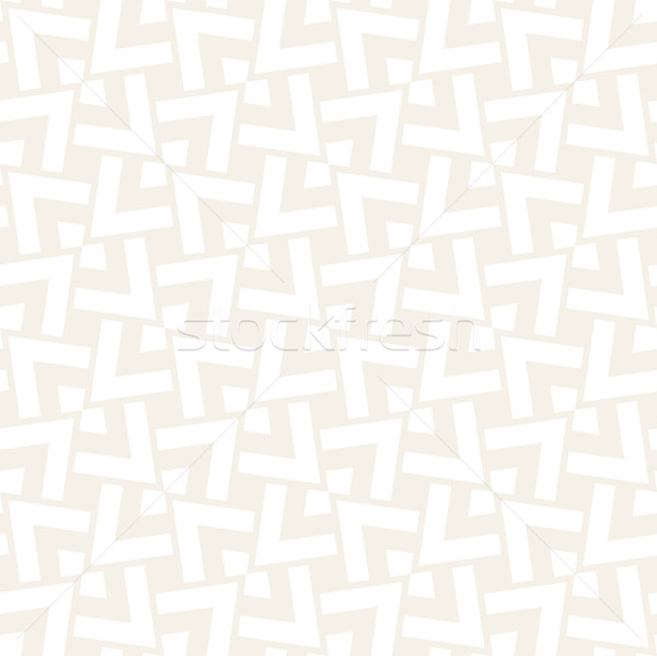Subtle Ornament With Striped Rhombuses. Vector Seamless Monochrome Pattern Stock photo © Samolevsky