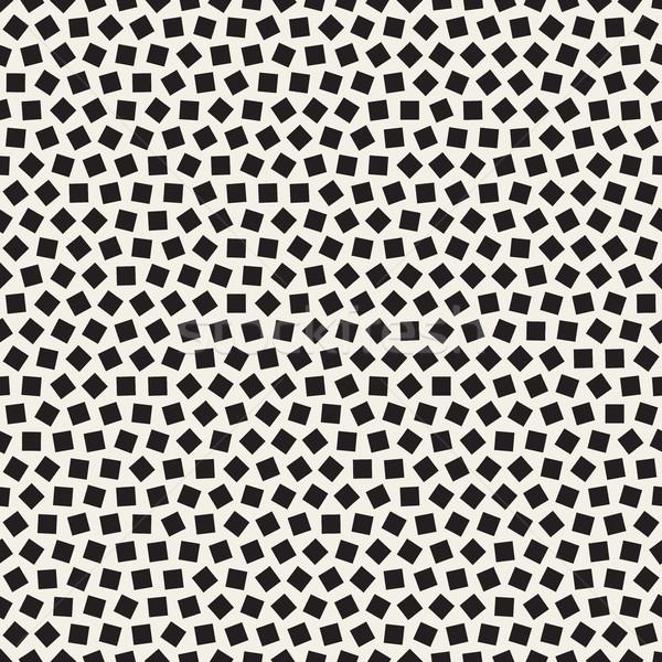 Vector sin costura azar patrón blanco negro Foto stock © Samolevsky