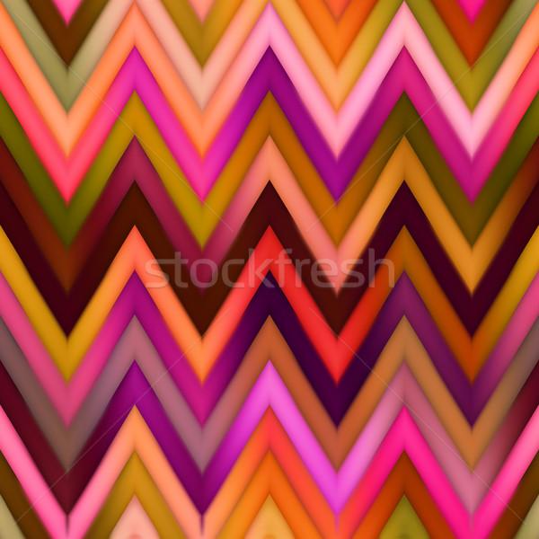 Vector Seamless ZigZag Chevron Color Lines Gradient Mesh Pattern Stock photo © Samolevsky