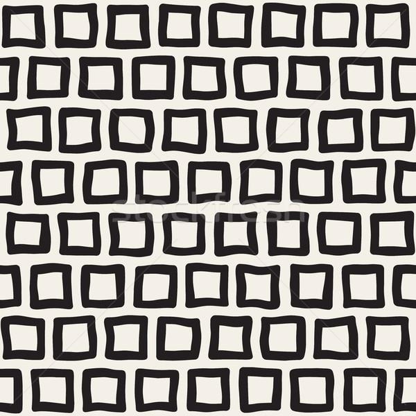 вектора бесшовный черно белые рисованной шаблон аннотация Сток-фото © Samolevsky