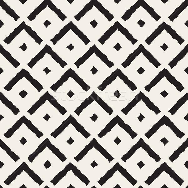 Vector Seamless Hand Painted Line Corner Shape Pattern Stock photo © Samolevsky