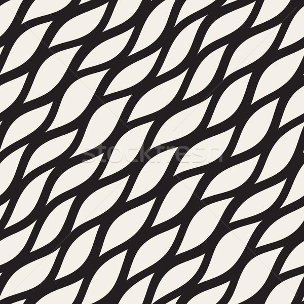 Foto d'archivio: Vettore · senza · soluzione · di · continuità · bianco · nero · diagonale · linee