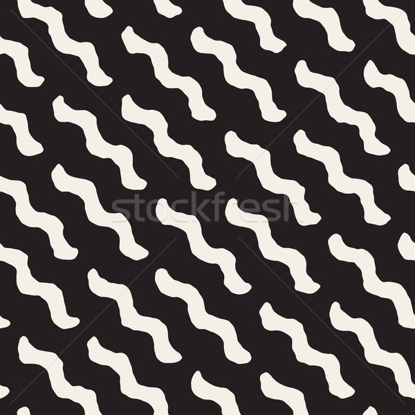 Vector Seamless Wavy Diagonal Lines Pattern Stock photo © Samolevsky
