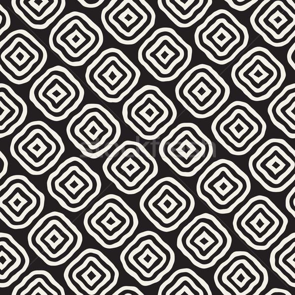 Vetor sem costura preto e branco linhas padrão Foto stock © Samolevsky