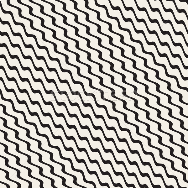 волнистый ряби вектора бесшовный черно белые Сток-фото © Samolevsky