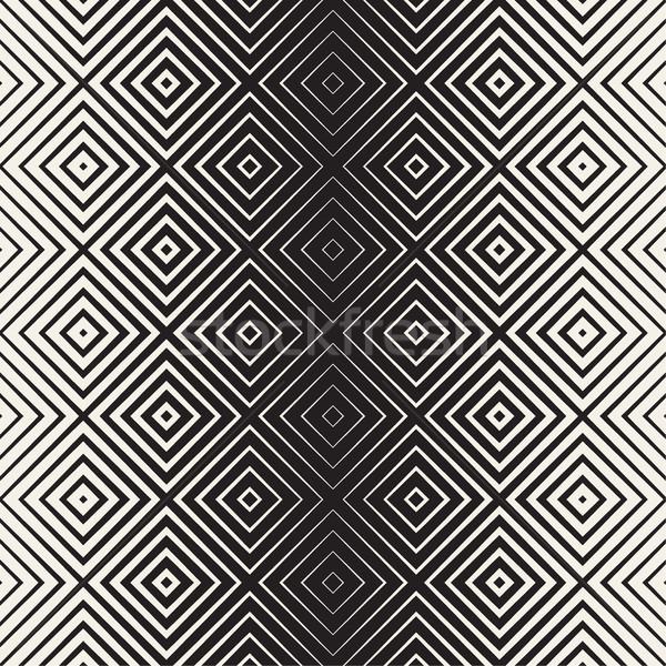 Monocromático linha vetor sem costura preto e branco Foto stock © Samolevsky