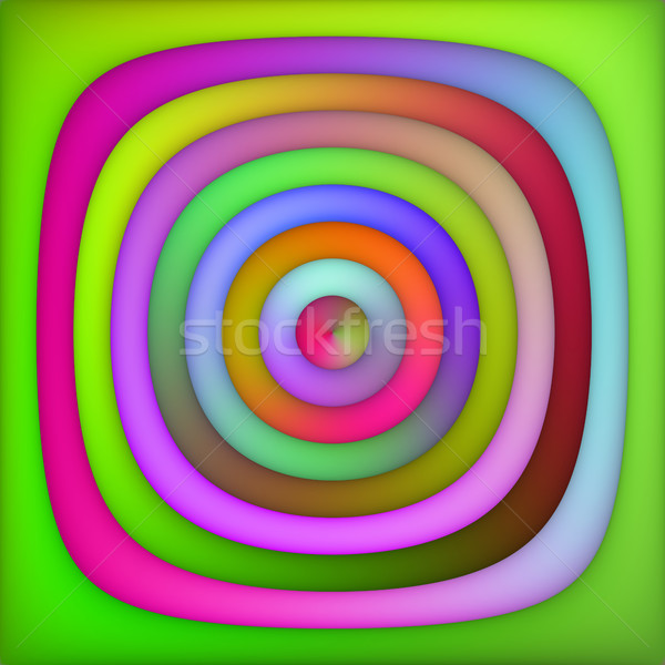 Raster Multicolor Green Pink Shades Gradient Concentric Circles Abstract Background Stock photo © Samolevsky