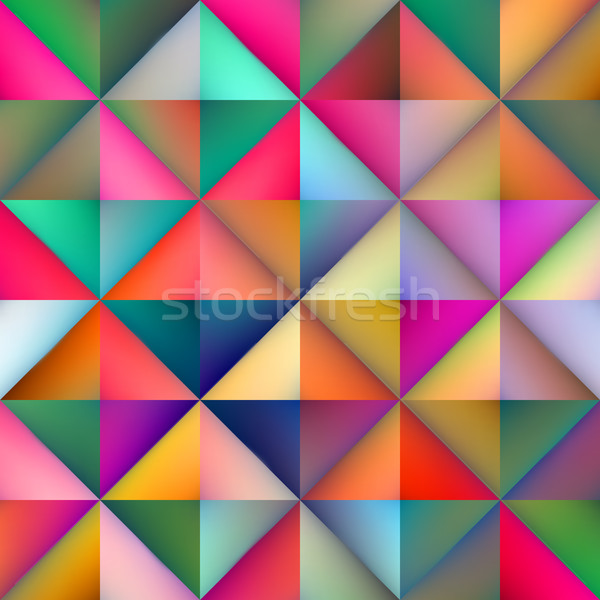 Vektor Gradienten Dreieck Platz Fliesen Stock foto © Samolevsky