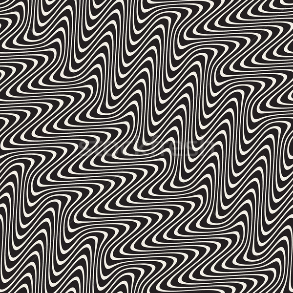 Dalgalı hatları etki vektör siyah beyaz Stok fotoğraf © Samolevsky