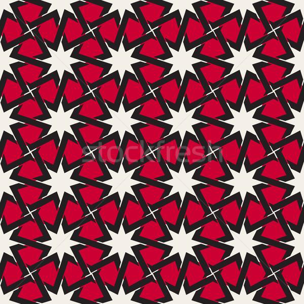 Vettore senza soluzione di continuità line star disegno geometrico Foto d'archivio © Samolevsky