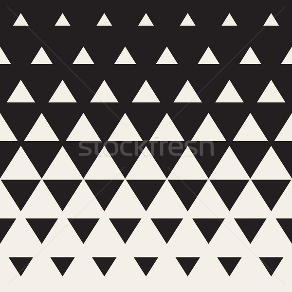 Vector Seamless Triangle Halftone Gradient Pattern Stock photo © Samolevsky