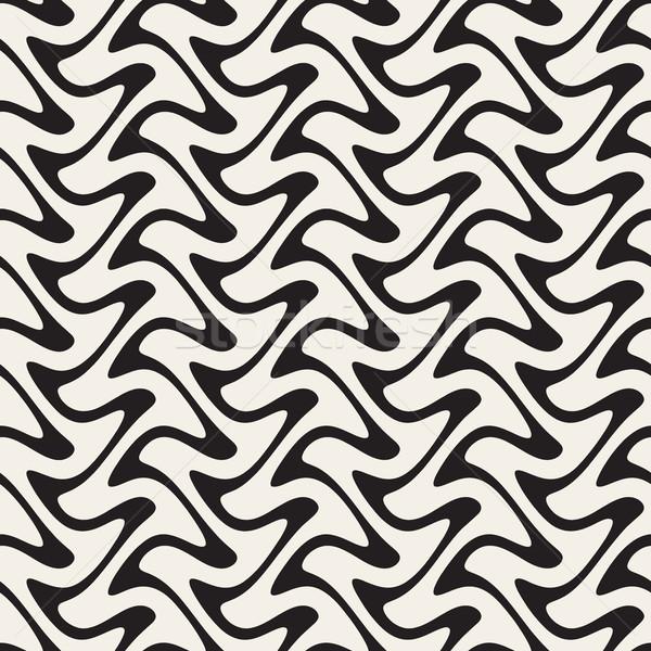 Stok fotoğraf: Dikey · zikzak · hatları · soyut · geometrik
