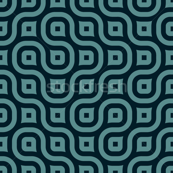 Vector Seamless Rounded Shape Geometric Irregular Pattern Stock photo © Samolevsky
