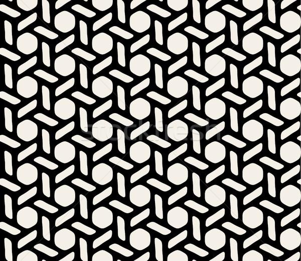 Vettore bianco nero senza soluzione di continuità disegno geometrico design stampa Foto d'archivio © Samolevsky