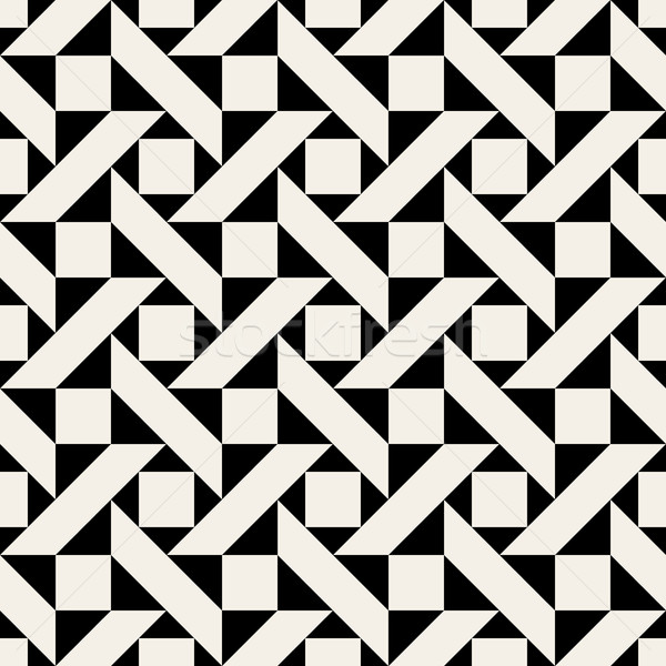 Vector Seamless Black and Wite Geometric Pattern  Stock photo © Samolevsky