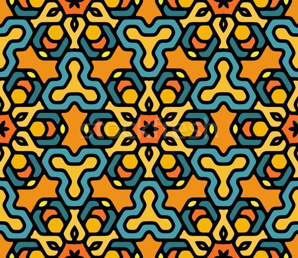 Vektor farbenreich floral orientalisch Mandala Stock foto © Samolevsky