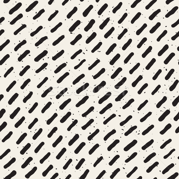 Vector Seamless Hand Drawn Diagonal Lines Grungy Pattern Stock photo © Samolevsky