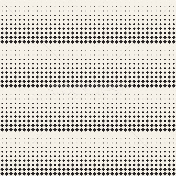 Stock photo: Stylish Minimalistic Halftone Grid. Vector Seamless Black and White Pattern