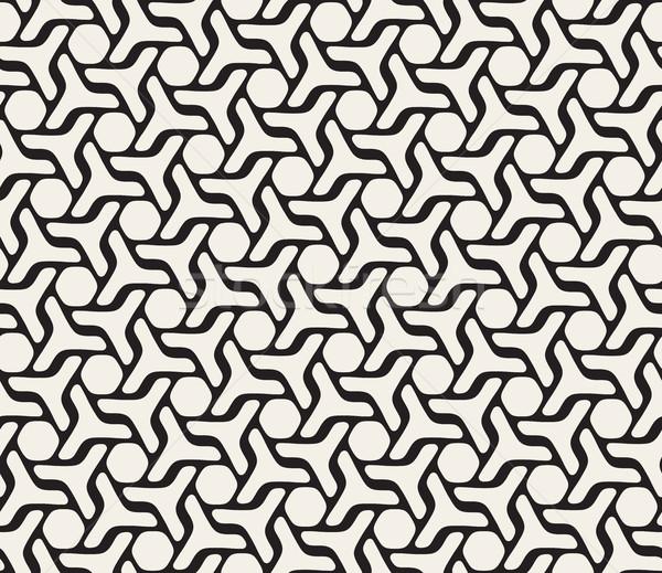 Vetor sem costura linhas padrão geométrico padrão abstrato Foto stock © Samolevsky