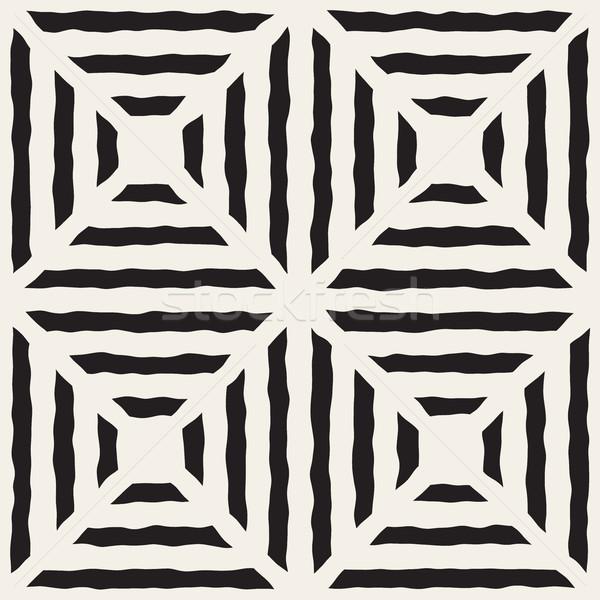 Vettore senza soluzione di continuità diagonale linee griglia pattern Foto d'archivio © Samolevsky