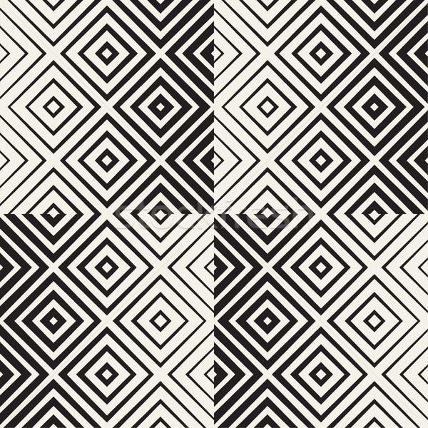 In bianco e nero line vettore senza soluzione di continuità bianco nero Foto d'archivio © Samolevsky