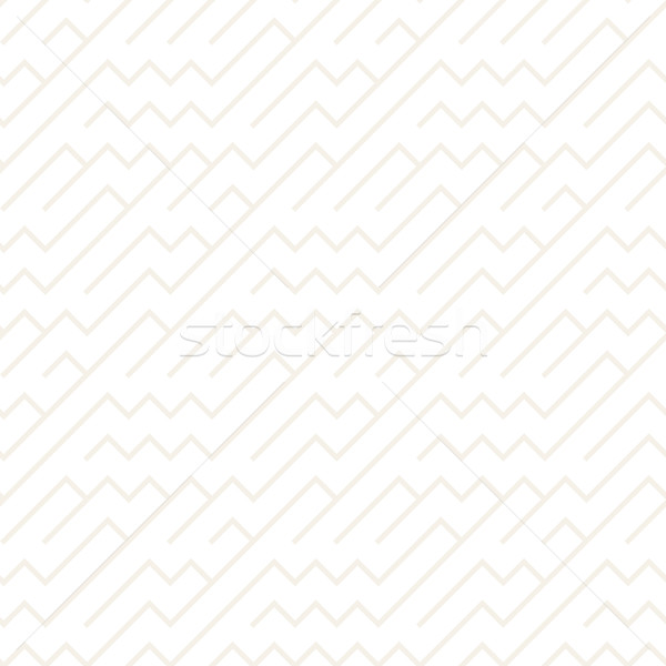 Irregular Maze Shapes Tiling Contemporary Graphic Design. Vector Seamless Black and White Pattern Stock photo © Samolevsky