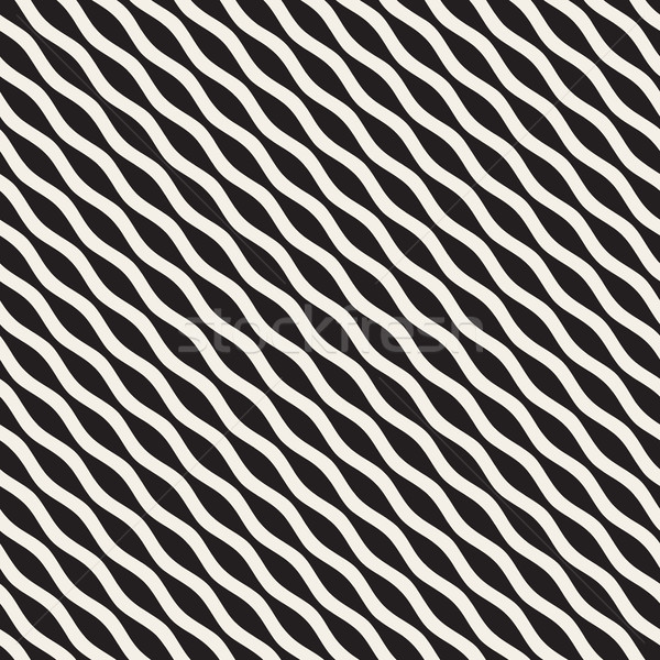 волнистый ряби линия вектора бесшовный черно белые Сток-фото © Samolevsky