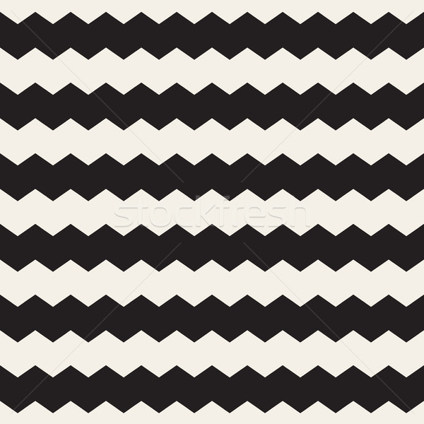 Vettore senza soluzione di continuità bianco nero zig-zag orizzontale linee Foto d'archivio © Samolevsky