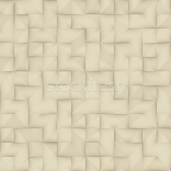 シームレス ヴィンテージ 折られた 紙 幾何学的な 広場 ストックフォト © Samolevsky