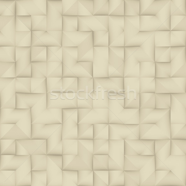 Raster Seamless Greyscale Vintage Folded Paper Geometric Square Pattern Stock photo © Samolevsky