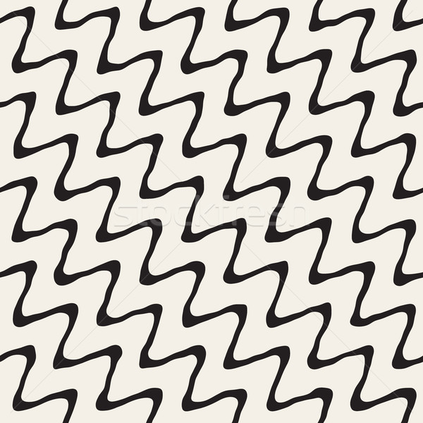 вектора бесшовный рисованной грубо диагональ волнистый Сток-фото © Samolevsky