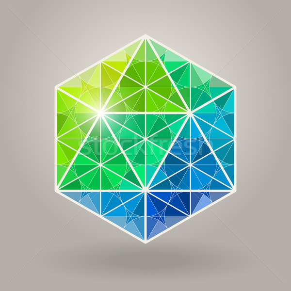 Résumé vecteur géométrique bleu vert sacré Photo stock © Samolevsky