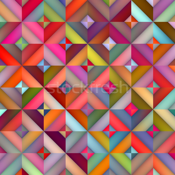 Vector Seamless Multicolor Shades Gradient Rhombus Squares Geometric Pattern Stock photo © Samolevsky