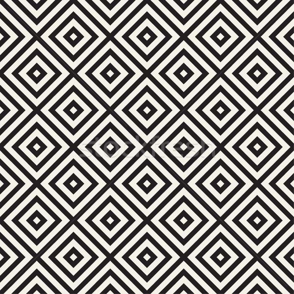 модный монохромный линия вектора бесшовный черно белые Сток-фото © Samolevsky
