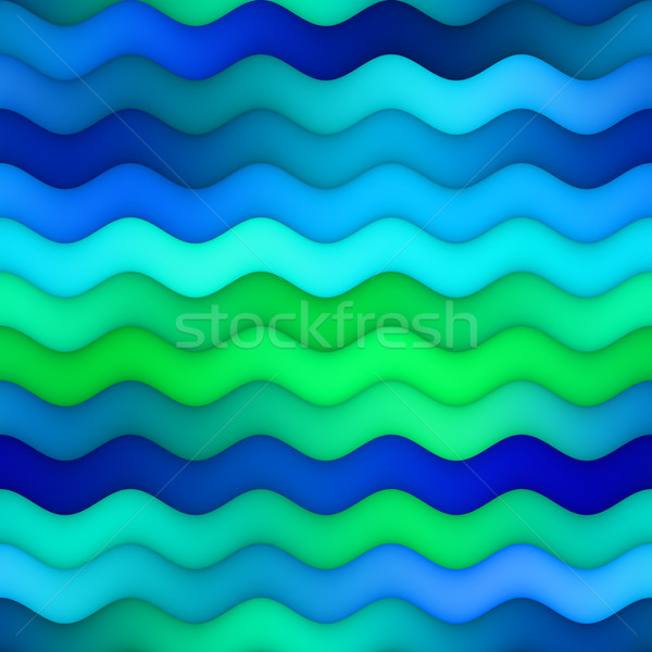 Raster Seamless Horizontal Wavy Blue Green Gradient Lines Water  Texture Stock photo © Samolevsky