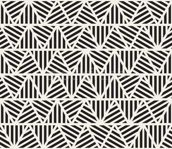 Vector Seamless Triangle Stripes Pattern Stock photo © Samolevsky