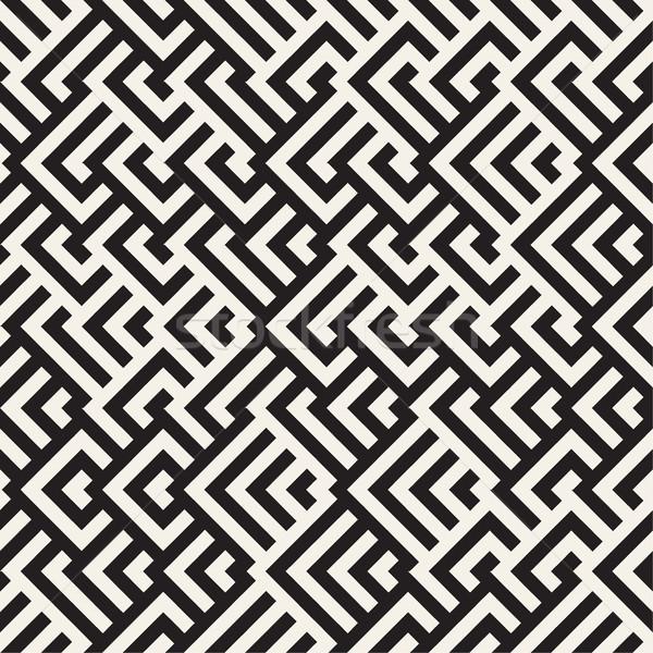 迷路 行 現代の グラフィック ベクトル シームレス ストックフォト © Samolevsky
