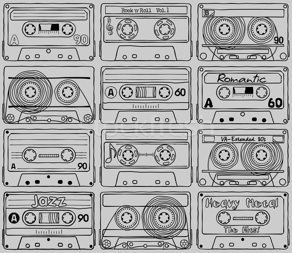 Cassettes. Textures. Part_02 Stock photo © samorodinov