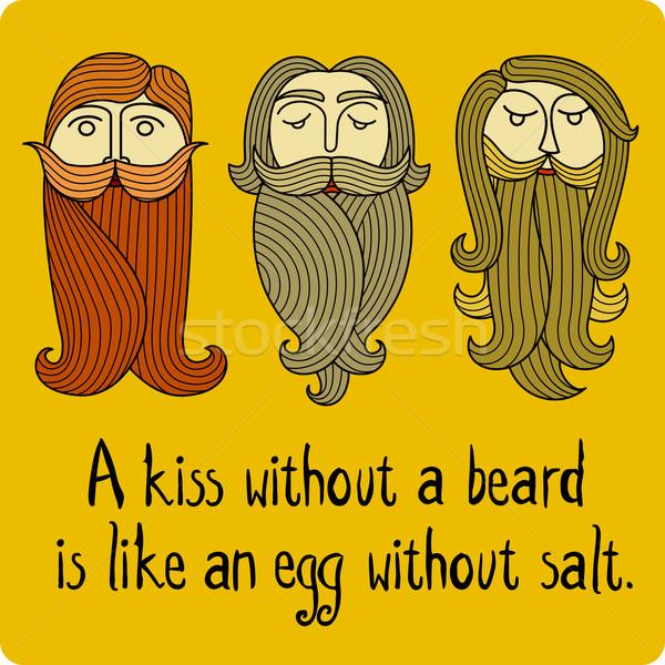 ストックフォト: 3 · 男性 · 頭 · あごひげ · 髪 · 顔