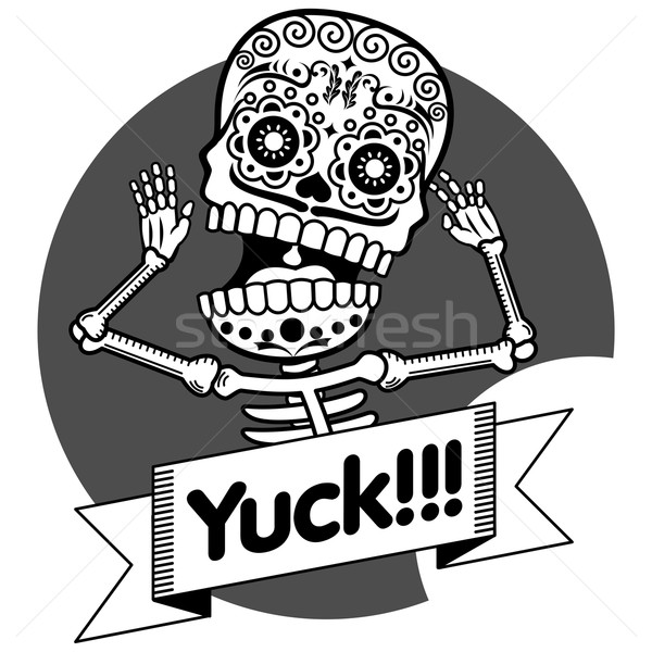 футболки человека скелет оружия кричали Сток-фото © samorodinov