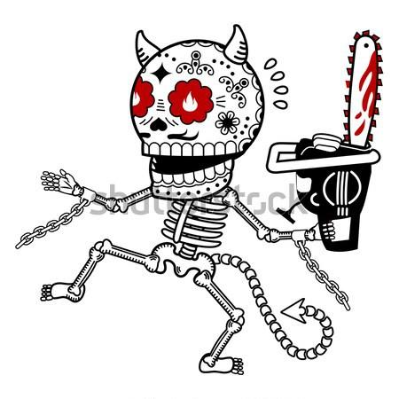 Skeletons. T-shirt. Western Stock photo © samorodinov