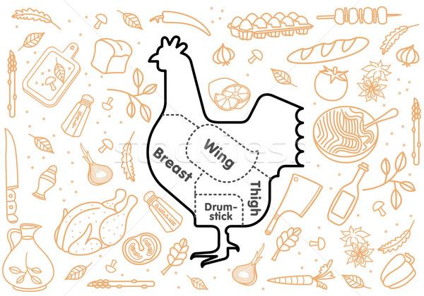 Carne de vacuno cerdo cordero pollo hortalizas imagen Foto stock © samorodinov