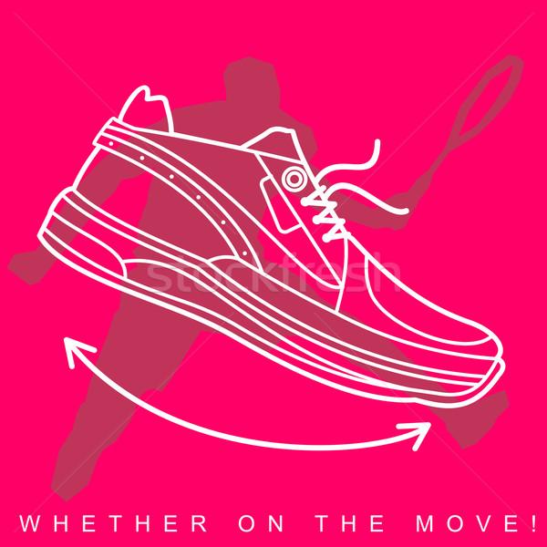 Sportcipők sport cipők textúra sziluettek mozgás Stock fotó © samorodinov