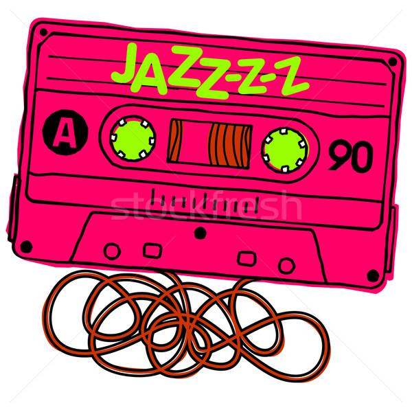 Cassete jazz linear vetor gráficos Áudio Foto stock © samorodinov