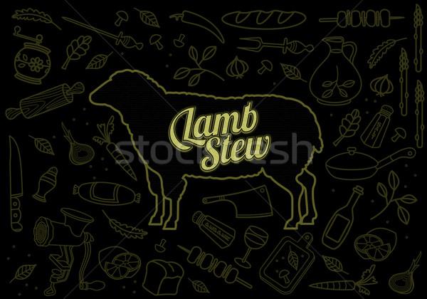 Beef Pork Lamb Chicken Stock photo © samorodinov