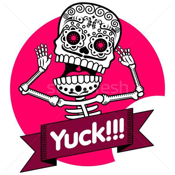 Skeletons. T-shirt. Yuck Stock photo © samorodinov